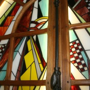 """Tableau Lumineux """"Fenêtre sur cour"""". Retro-éclairage à Leds."""