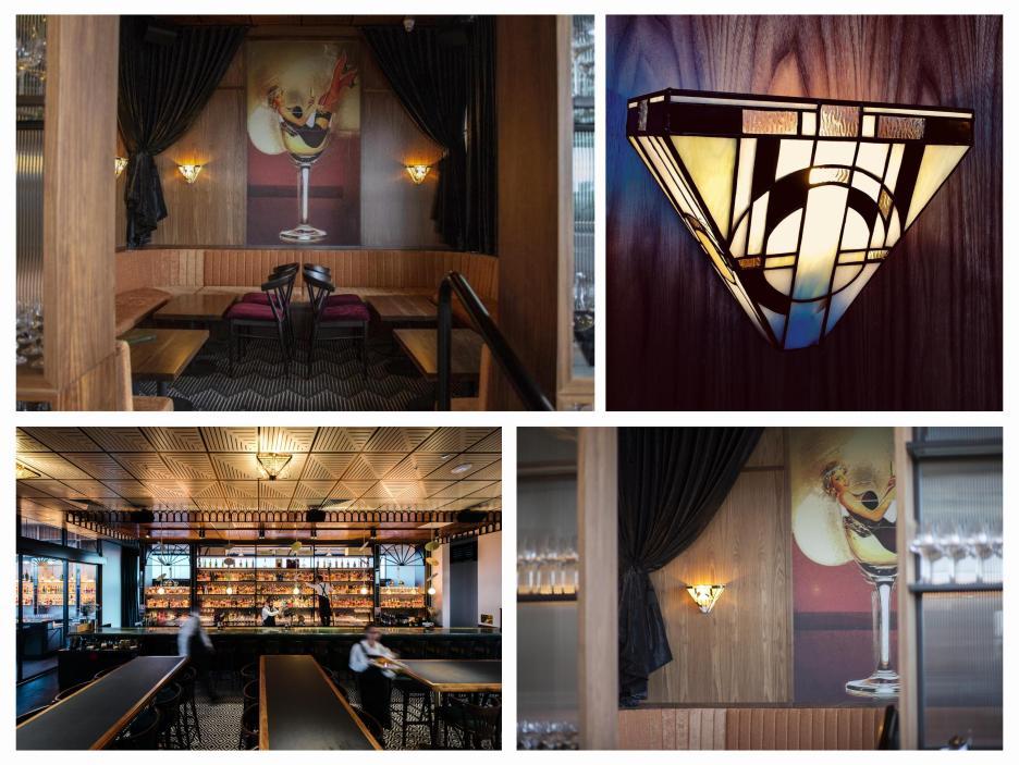"""Création et réalisation des appliques du Bar de style Art Déco """"Nick and Noras"""" de Melbourne - Australia"""