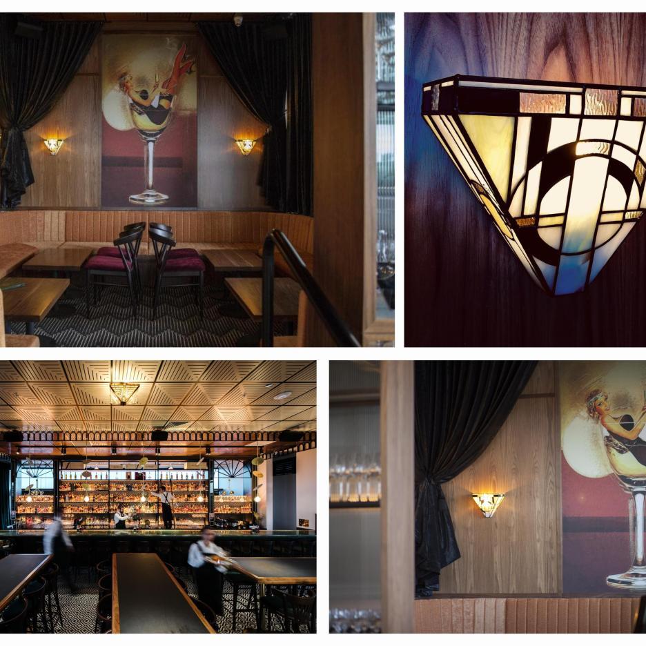 """Création et réalisation des appliques du Bar de style Art Déco """"Nick and Noras"""" de Sydney - Australia"""