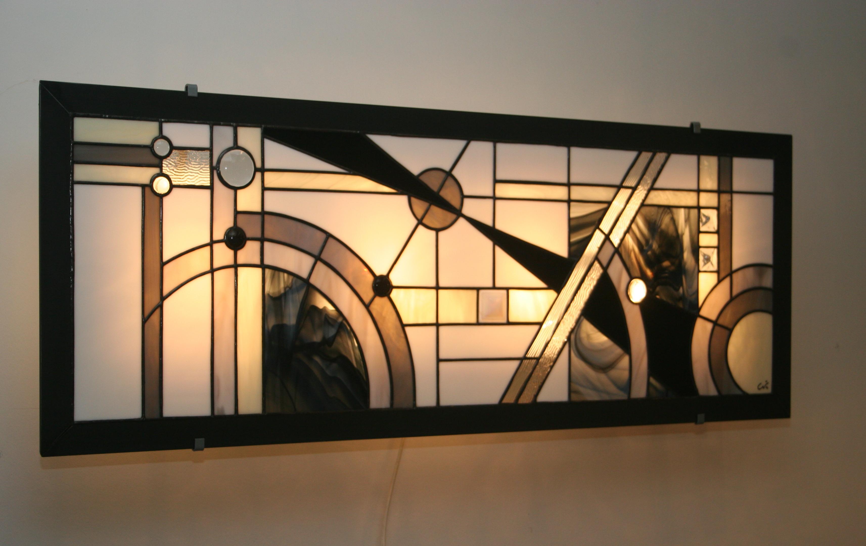 Applique murale art déco lumière et vitrail
